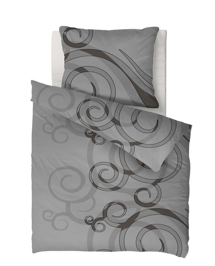 8 tlg microfaser thermo fleece bettwaesche m spannbettlaken 135x200 grau ebay. Black Bedroom Furniture Sets. Home Design Ideas